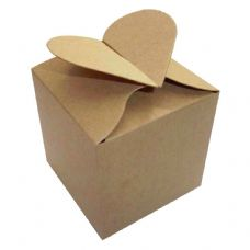 Kraft Heart Top Designer Favour Boxes
